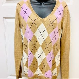 IZOD Argyle Sweater Womens Size M